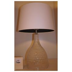 Jasmine Clear Hammered Glass Table Lamp