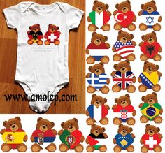 Iki Baby Onesie T-Shirt for Multinational Kids and babies