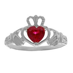 Child's Personalized Birthstone of Your Choice Claddagh Ring In White Gold Gemologica.com offers a unique and simple selection of handmade fashion and fine jewelry for men, woman and children to make a statement. We offer earrings, bracelets, necklaces, pendants, rings and accessories with gemstones, diamonds and birthstones available in Sterling Silver, 10K, 14K and 18K yellow, rose and white gold, titanium and silver metal. Shop @Gemologica jewellery now for cool cute design ideas…