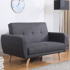 Classic meets contemporary with the Farrow medium sofa bed. A contemporary sofa bed that's also ideal for smaller set-ups as an occasional guest bed. Upholstered in grey fabric this versatile sofa bed is stylish and practical. Contemporary Sofa Bed, Sofa Design, Seater Sofa, Grey Fabric Sofa, Living Room Bedroom, Chair Bed, Wooden Living Room, Fabric Sofa Bed, Living Room Sofa Design