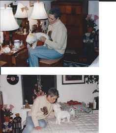 Here is my first love. That's Chloe and me in Great Neck. She's been gone several years, but she is always close to my heart.