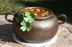 Gorgeous Pot O' Gold cake for St. Patrick's Day.