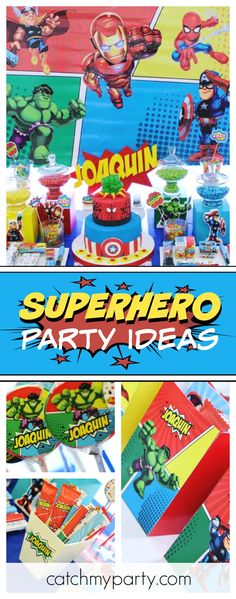 You don't want to miss this fab Superhero birthday party! The birthday is amazing!! See more party ideas and share yours at CatchMyParty.com