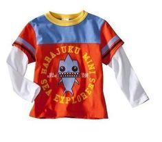 Harajuku Mini - Gwen Stefani Boys Orange Sea Explorers T-Shirt Size 2T