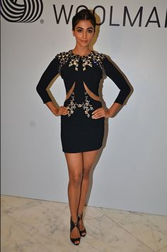 Pooja Hegde in a dress by Phillip Plein and Louboutin shoes.   The Week In Style