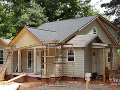 New Construction | Custom home rebuild by Charlotte, NC based general contractor Taylored Improvements.