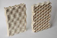 Mattoni in ceramica stampata per un'architettura sostenibile.
