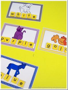 letter tile cards for brown bear brown bear