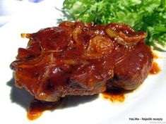 Veprove platky pecene v marinade Steak, Food And Drink, Cooking, Meat, Easy Meals, Baking Center, Koken, Steaks, Cook