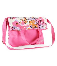 Floral Fold-Over Canvas Tote - Aeropostale