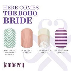 Jamberry nail wrap Wedding collection: Boho Bride.  Purchase at www.vankampenstyle.com.