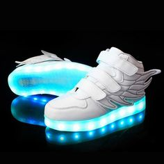 344381a83338c 25-37 Size  USB Charging Basket Led Children Shoes With Light Up Kids  Casual Boys Girls Luminous Sneakers Glowing Shoe enfant