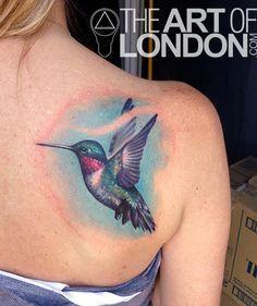 London Reese - Hummingbird Tattoo