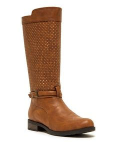 Another great find on #zulily! Camel Perforated Turner Boot #zulilyfinds