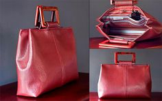 Free Bag Pattern and Tutorial - Trendy Faux Leather Handbag