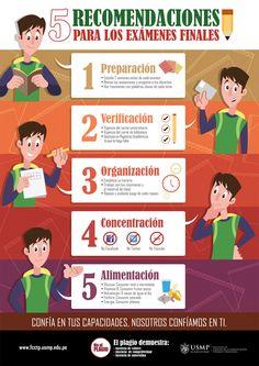 Cinco recomendaciones para los exámenes finales