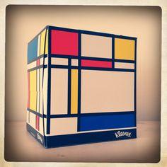 Mondrian tissue box