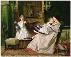 Gustave Leonard de Jonghe (Belgian, 1829-1893) ~ Motherly Love