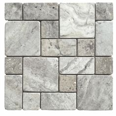 Silver Natural Stone Mosaic Indoor/Outdoor Wall Tile (Common: 12-in x 12-in; Actual: 12-in x 12-in)