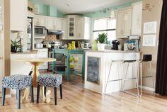 dream kitchen.  turquoise kitchen trolley