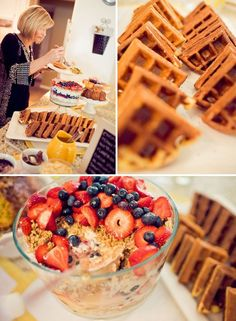 baby shower brunch waffle bar #PinItToWinIt #BetterBabyShowerContest @Cathie Radlein&Thread At Cradle