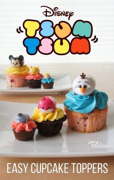 Jakks Pacific Tsum Tsum Easy Cupcake Toppers