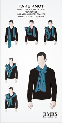 Best how to wear a scarf men winter tie scarves 59 Ideas Mens Scarf Fashion, Suit Fashion, Men Scarf, Clothing Hacks, Mens Clothing Styles, Stylish Men, Men Casual, Fashion Infographic, Scarf Knots