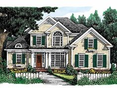 Eplans Country House Plan - Bright Design - 2138 Square Feet and 4 Bedrooms from Eplans - House Plan Code HWEPL08747