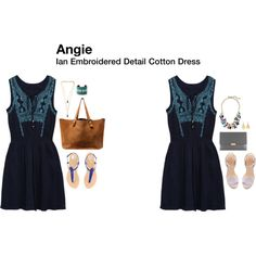 """""""Ian Embroidered Detail Cotton Dress"""""""