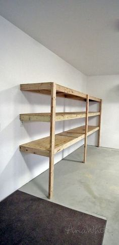Ana White | Build a Easy and Fast DIY Garage or Basement Shelving for Tote Storage | Free and Easy DIY Project and Furniture Plans These will be my new basement shelves, i think. Awesome!