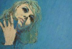 "Michael Johnson illustration for ""Woman"" magazine, Michael Johnson, Magazine Illustration, Illustration Sketches, Retro Art, Vintage Art, Figure Painting, Painting & Drawing, Driftwood Art, Female Art"