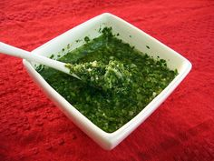 In need of a new marinade for red meats, chicken even veggies...try Argentinan Chimichurri! This is an Argentine must, even as a side on top of your meet aside from marinating. Now, you can use all of that Parsley from the garden. Posted from AsadoArgentino.