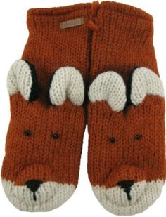 DeLux Fox Orange Wool Animal Mittens DeLux. $29.99