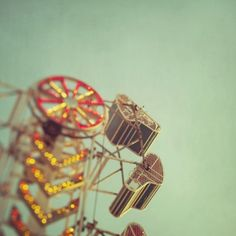 Carnival ride vintage photo