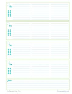 Printable Time Card Template Personal Planner  Free Printables  Evening Routine Free Printable .