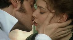 North & South. Mr. Thornton & Margaret kiss (GIF). (On a completely unrelated note, Richard Armitage has one of the nicest jawlines I've ever seen.)