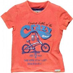 *NEW* MOODSTREET shirt Crazy Bike faded Coral