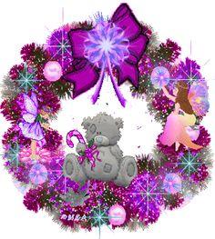 Purple Xmas Teddy