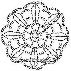 Comments in Topic Crochet Mandala Pattern, Crochet Motifs, Crochet Diagram, Doily Patterns, Crochet Chart, Crochet Squares, Thread Crochet, Crochet Stitches, Crochet Patterns