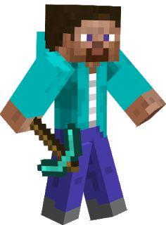 Imagens minecraft para montagens digitais - Cantinho do blog Steve Minecraft, Skins For Minecraft Pe, Minecraft Sword, Minecraft Mobs, Mine Minecraft, Minecraft Characters, Hama Beads Minecraft, Minecraft Party, Minecraft Clipart