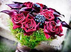 Berries & flower bouquet. Love it!