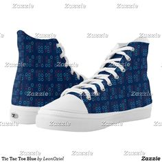 Shop Tic Tac Toe Blue High-Top Sneakers created by LeonOziel. Blue High Tops, Tic Tac, Custom Sneakers, White Elephant Gifts, Christmas Holiday, On Shoes, Converse Chuck Taylor, High Top Sneakers, Your Style