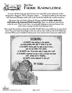 Spiderwick - Test Your Faerie Knowledge (1 of 4)