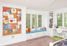 """The children's creativity extends to their personal spaces.   See more of this home in """"Bright Home on Secret Ottawa Lake Goes Modern"""" from OUR HOMES Ottawa Summer 2016 http://www.ourhomes.ca/articles/build/article/bright-home-on-secret-ottawa-lake-goes-modern"""