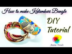 DIY Kalamkari Bangle / Fabric Bangle Tribal Jewelry / How to make Kalamk. Diy Lace Jewelry, Diy Fabric Jewellery, Leather Jewelry Making, Fabric Bracelets, Thread Jewellery, Diy Jewelry Making, Tribal Jewelry, Fabric Earrings, Seed Bead Bracelets Tutorials