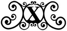 Wrought Iron House Plaque Let X -24 In
