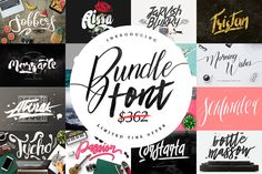 Font Bundle & Graphic - 95% OFF by Maulana Creative on @creativemarket