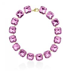High Polished Gold & Provincial Lavender Necklace from JANIS SAVITT