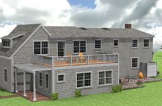 roof designs for additions | flat roof addition for the family room with a roof deck above ...