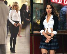 Megan Fox Hot, Megan Denise Fox, School Girl Outfit, Girl Outfits, Sexy Outfits, Megan Fox Bikini, Fox Halloween, Mutant Ninja, Teenage Mutant